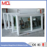 Ventana de cristal de aluminio de desplazamiento del marco