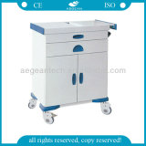 Carretilla de múltiples funciones del tratamiento del oficio de enfermera de la limpieza fácil AG-Et016