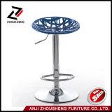 Nueva silla azul de la barra del diseño con el asiento del sostenido de la jerarquía del pájaro