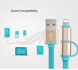 2 en 1 cable de datos retractable del relámpago para el USB de iPhone+Micro