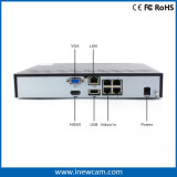 リアルタイムのリモート・モニタリングをサポートする4CH 4MP NVR