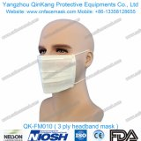 使い捨て可能なヘッドバンドの非編まれた外科マスクのマスクQk-FM010