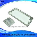 iPhoneのための熱い販売の金属によってブラシをかけられるアルミニウム携帯電話の箱