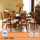 Tabela de jantar do vidoeiro que janta mobília de madeira ajustada