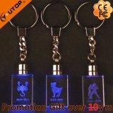 Высекать/лазер держатель изготовленный на заказ логоса гравировки кристаллический ключевой (YT-3271)