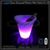 Cubo de hielo encendido LED recargable teledirigido del vino