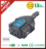 C.C. caliente de la venta al inversor de la potencia del coche de la CA, DC12V al inversor de la potencia del coche de AC230V 125W con el indicador digital