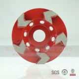 100mm 돌과 구체적인 K08를 위한 5개의 화살 세그먼트 다이아몬드 컵 바퀴