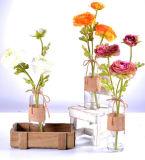 3 pistas artificiales Camillia en vidrio con agua del Faux para la decoración