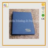 Caderno de couro do plutônio da alta qualidade A4 A5