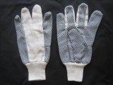 Поставленный точки PVC хлопок сверла работая Glove-2205