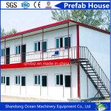 Casa pré-fabricada favorável ao meio ambiente do edifício da personalização do painel de construção e de sanduíche de aço com baixo orçamento