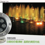 Luz LED de luz IP68 Piscina bajo el agua Luz de alta calidad al aire libre 9W 12W Luz subacuática LED