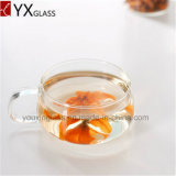 優雅で高いホウケイ酸塩の単一か二重壁のガラスコーヒーカップの小型ガラス茶カップ・アンド・ソーサー220ml