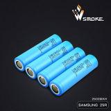 Batería 3.7V 2500mAh/20A del Li-ion de Samsung-25r para el E-Cigarrillo