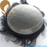 Toupee del pelo humano de la Virgen mono y Toupee de la PU para los hombres