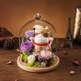 誕生日プレゼントのためのガラスの維持された花