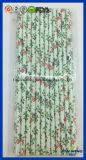 Eco freundliches Partei-Zubehör-Blumenmuster-Papier-Stroh