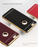 Гальванизируя iPhone аргументы за сотового телефона кожаный случая Striae TPU мягкое твердое 7/7 Plus/P8 Lite (XSDD-066)
