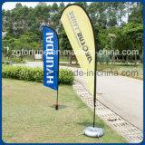 Spiaggia rettangolare delle bandierine delle piume di pubblicità esterna da vendere