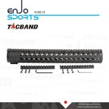 Tacband Keymod táctico flotador libre del carril de Handguard de 15 pulgadas con negro superior del carril de Picatinny