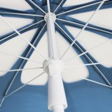 10 Polyester-Gewebe-Hochleistungsstrand-Regenschirm der Panel-8.5FT, justierbare Höhe, hohles Muster