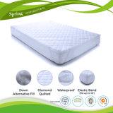 Cubierta de colchón ajustada impermeable del algodón puro del 100% con TPU