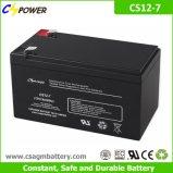Bateria profunda do AGM do ciclo de Cspower 12V 7ah para UPS, brinquedo eletrônico