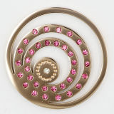 IP Rose Gold Plating en acier inoxydable Coin Plaques pour Locket Pendant Fashion Jewelry