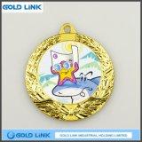 締縄の金属メダルカスタムメダル漫画の硬貨は円形浮彫りをからかう