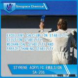 Émulsion acrylique de styrène avec les colorants élevés et les remplissages chargeant la capacité
