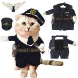 Costume de chien policier de Veille de la toussaint de produits d'animal familier