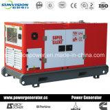 Genset diesel con el motor de Mitsubishi, generador con el recinto 20kVA