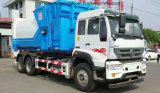 Sinotruk 6X4 팔은 공동 컴퓨레스 상자를 가진 쓰레기 트럭을 복사한다
