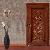 Домашняя одиночная твердая высеканная деревянная дверь спальни (GS2-073)