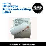 Анти--Подделывать утлую бирку чужеземца H3 ISO18000-6c RFID UHF бумажную
