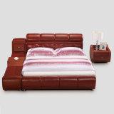 침실 사용 (FB8141)를 위한 빨간색 가죽 침대