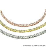 Серебр Bracele Bling 925 стерлинговый с 3A белым CZ (BT6553)