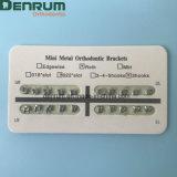 Ortodoncia dental de la fuente de Denrum MIM dos mini corchetes de Roth de los pedazos