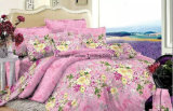 다채로운 꽃 패턴 대나무 Microfiber 보통 염색한 싼 침대 시트는 홈을%s 놓았다