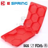 Envase del congelador del utensilio de cocinar de la prensa de la hamburguesa del silicón del hexágono