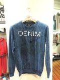 Blue Snow Wash T-shirt à manches longues à manches longues Fw-8738