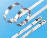 Ss304 Ss316 Bandit-rostfreie Kabelbinder mit Kugel-Verschluss