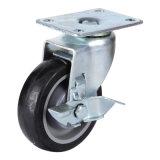 PU (까만) 단 하나 피마자 바퀴
