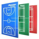 Het behandelen van Materiaal voor het OpenluchtHof van het Basketbal