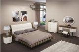 Hohes glattes Ebenholz-hölzerner König Size Bed für Schlafzimmer-Set (WB-003)