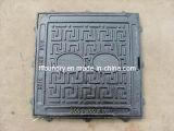 Une En124 B125 Square Frame com Square Manhole Cover
