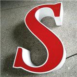 Carta de canal de aluminio publicitaria impermeable modificada para requisitos particulares de la muestra del LED