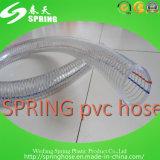 Boyau renforcé en plastique transparent de débit industriel de l'eau de fil d'acier de PVC