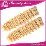 3PCS 7A Malaisie Virgin Hair Extension 613 Blonde Kinky Curly Cheap Russian Miel Blond Cheveux bouclés se tissent à vendre